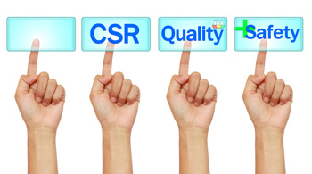 corporate social responsibility - quality - safety